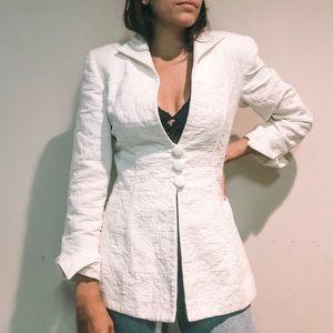 Vintage White Christian Dior Button Blazer